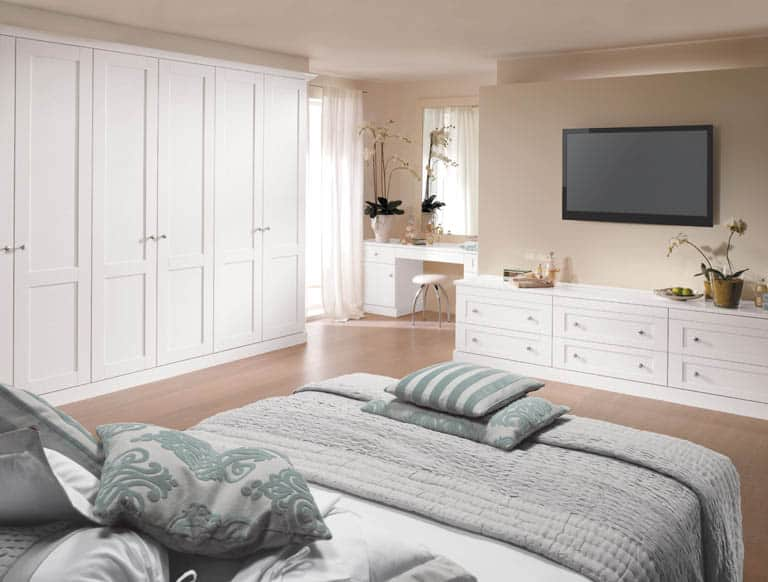 fitted bedrooms. Bespoke Bedroom Furniture In Pure White Fitted Bedrooms