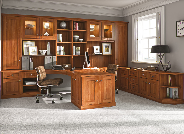 Verona home office in Uno Walnut
