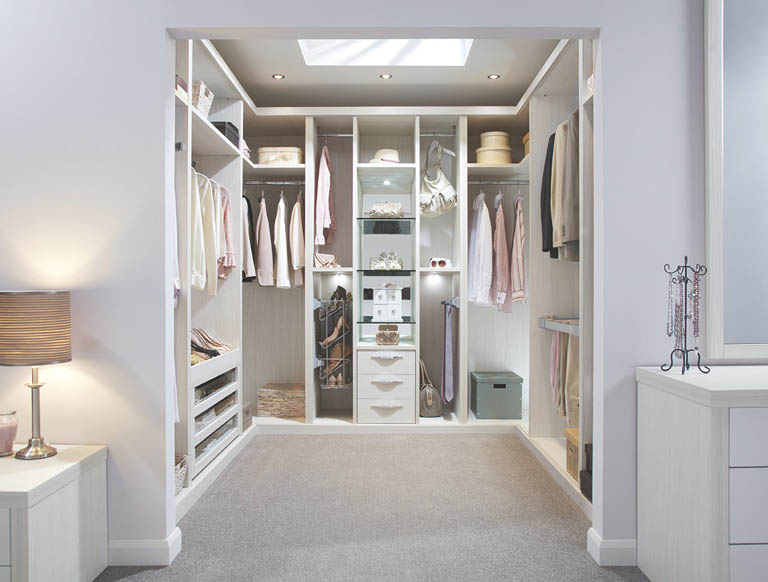 Contemporary fitted wardrobes from strachan for Fitting furniture in a small room