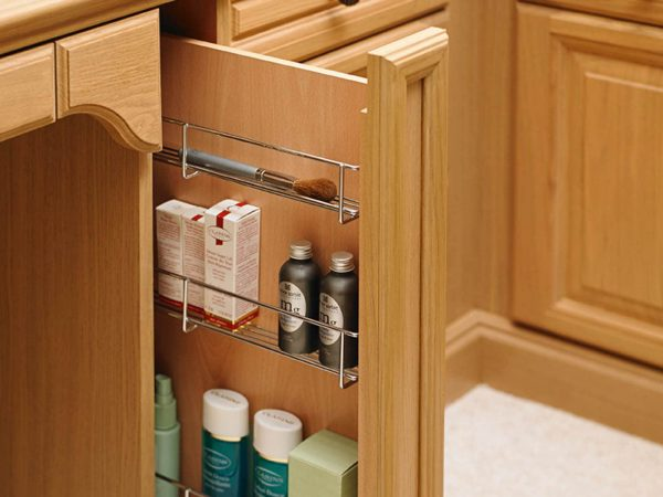 Strachan fitted dressing table with hidden toiletry cabinet