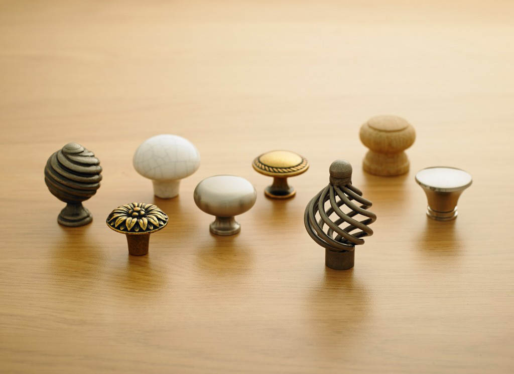 A selection of Strachan doorknobs