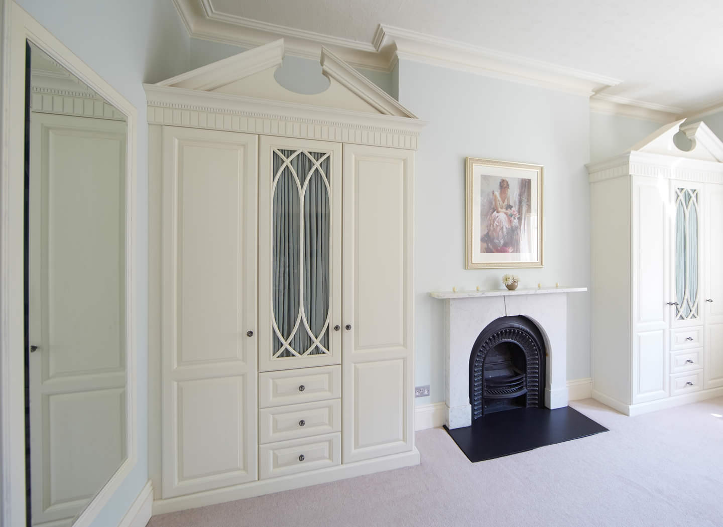 Case study showing bedroom furniture in bespoke colour wash