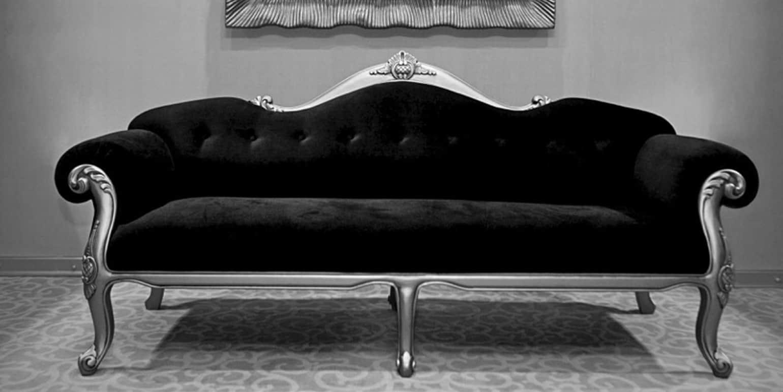 Large sofa with luxurious velvet finish
