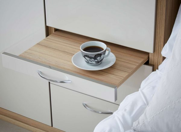 Pull out bed side table