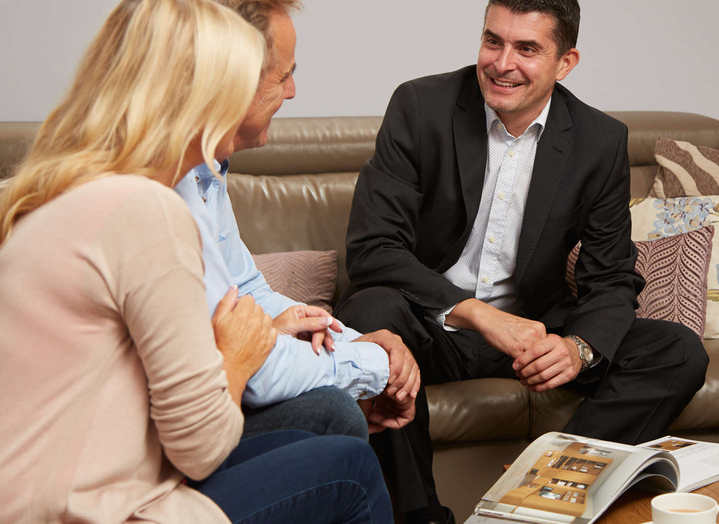 Couple attending a free design consultation