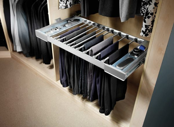 Slide out trouser rack