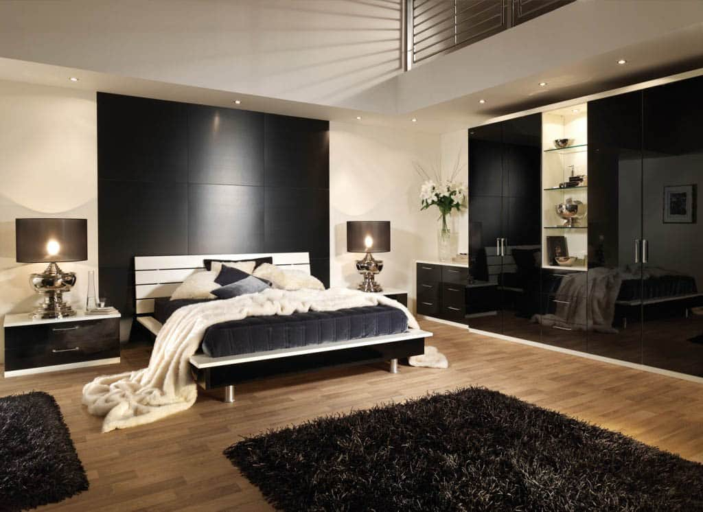 Fitted bedroom in Black and White