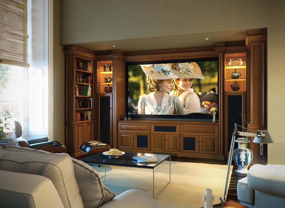 Shades of Oak Fitted Home Cinema Room