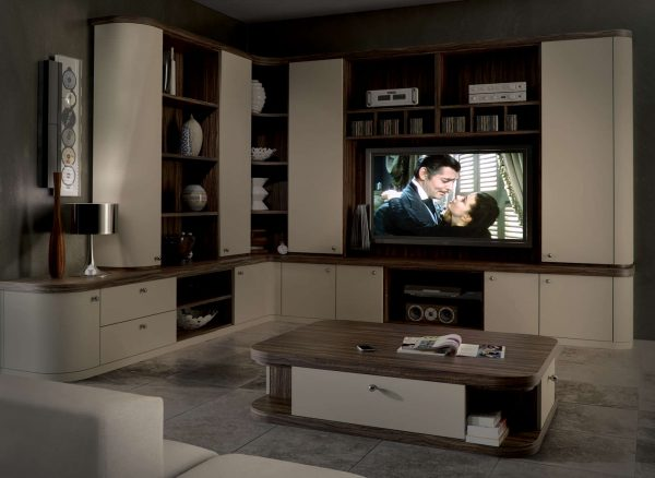 Precisely measured contemporary home cinema furniture