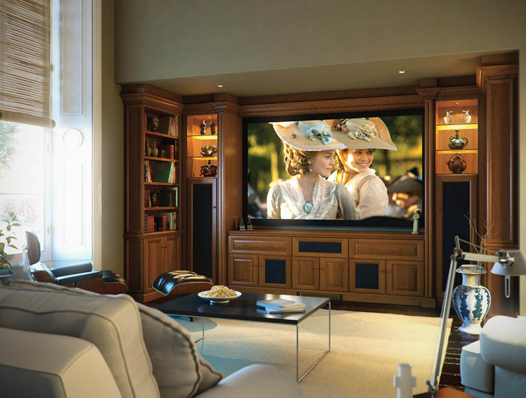Shades of Oak home cinema in Mellow Oak