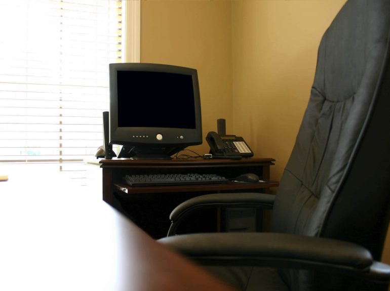 Ergonomic office chair in home office