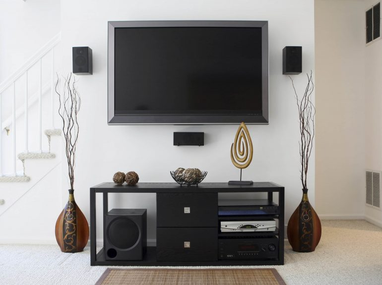 TV and entertainment area in lounge