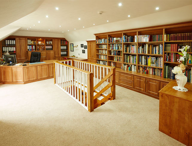 Fitted New England home office furniture