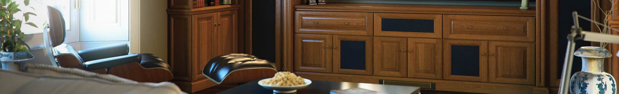fitted cabinets with hidden speakers