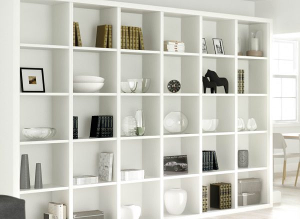 Bespoke bookshelves with extra space