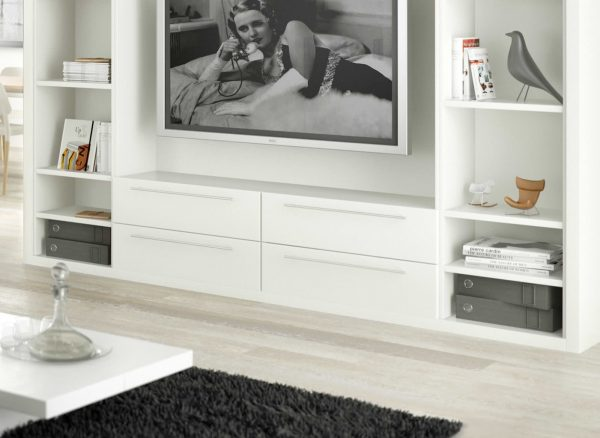 Discreet storage in white