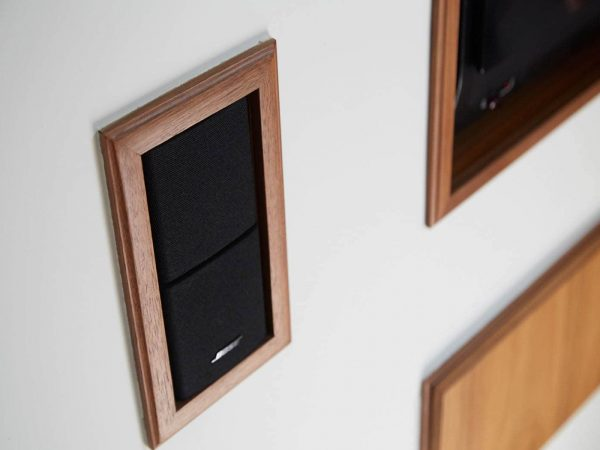 Integrated wall speakers