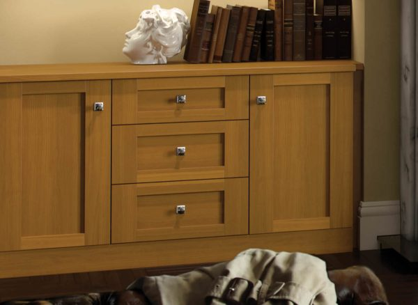 Solid wood drawers and door fronts