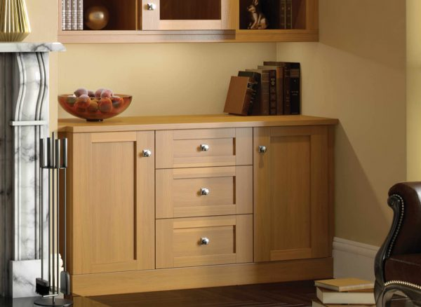 Fitted drawers with subtle classic detailing