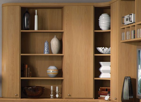 Fitted furniture with dedicated display units