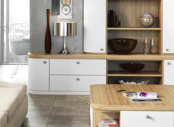 Contemporary curved fitted furniture