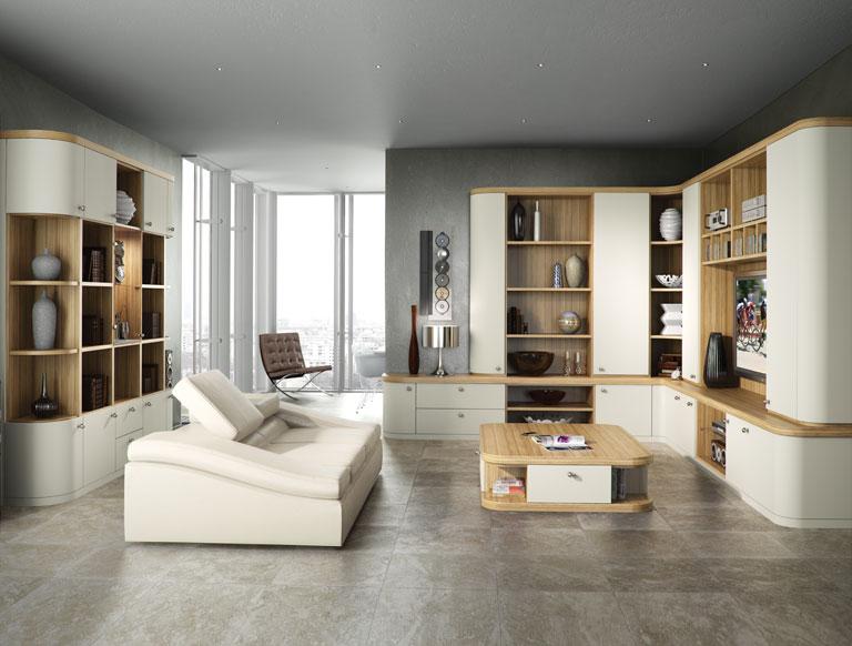 Optima lounge in Soft White and Granadillo
