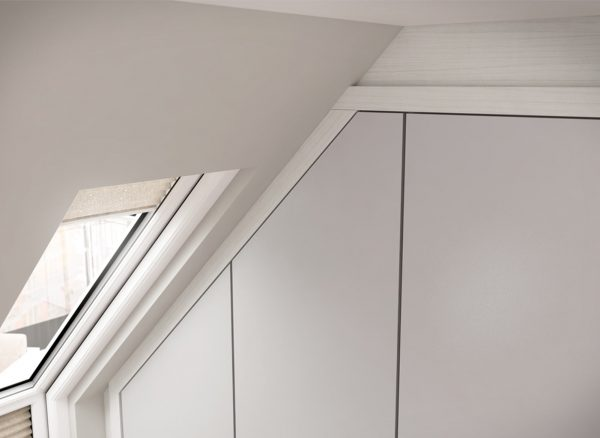 Furniture fitted to angled ceilings