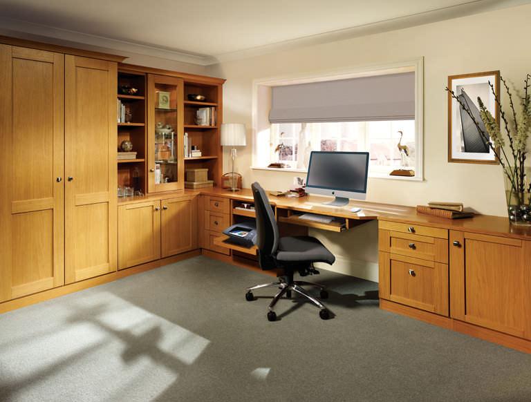 Mountain Oak home study in Natural Oak