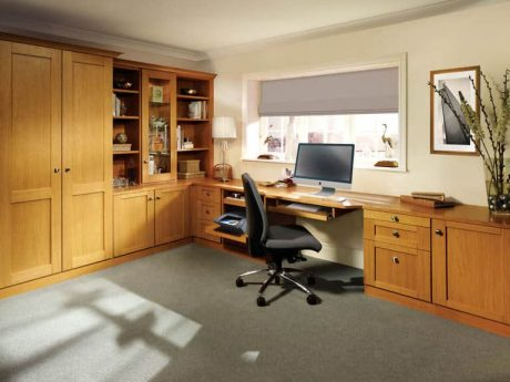Mountain Oak home office in Natural Oak