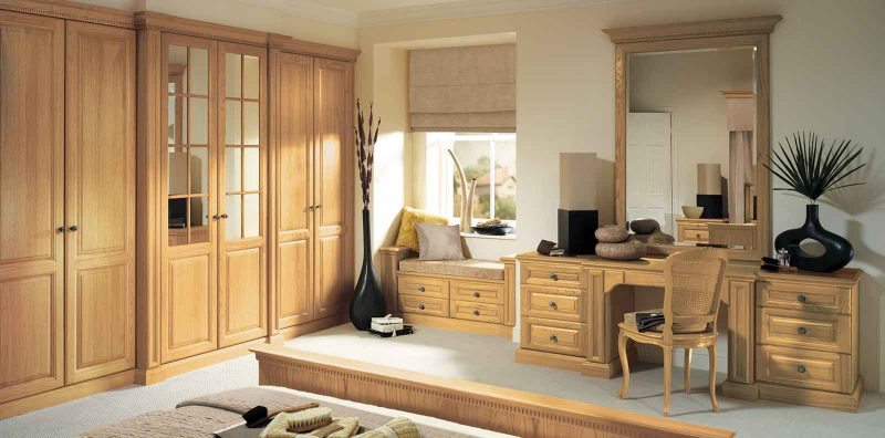 Shades Of Oak Fitted Bedroom In Natural Oak By Strachan