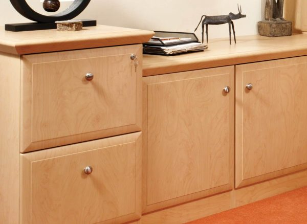 Matching lockable filing cabinets
