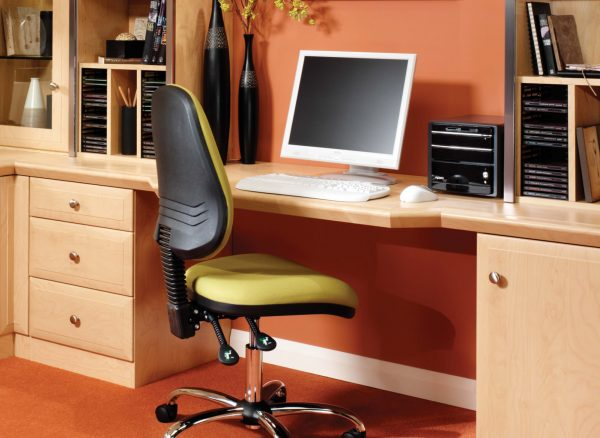 Uniquely shaped desk designs
