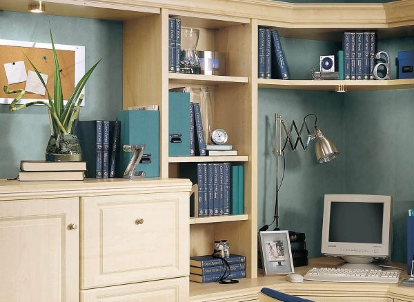 Slim vertical shelving