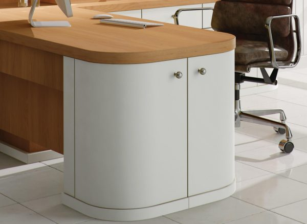 White painted home office furniture