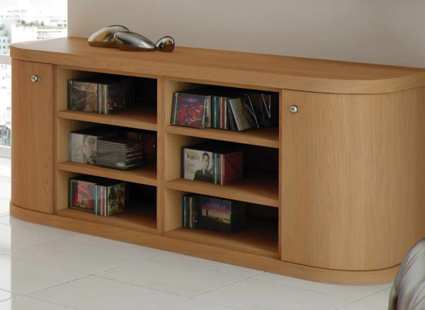 Curved shelving units