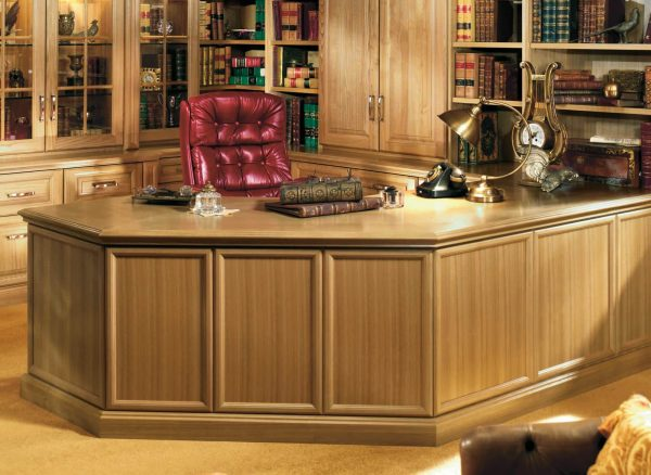 Statment penisular desk in shades of oak