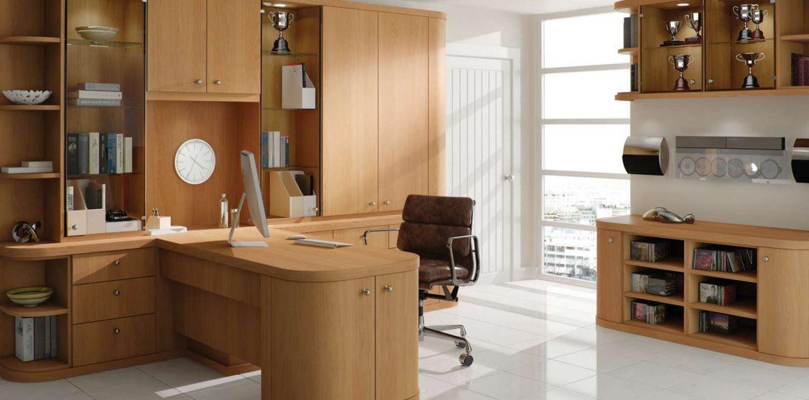 Optima Home Office in Natural Oak