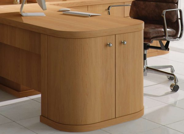 Curved cabinet doors