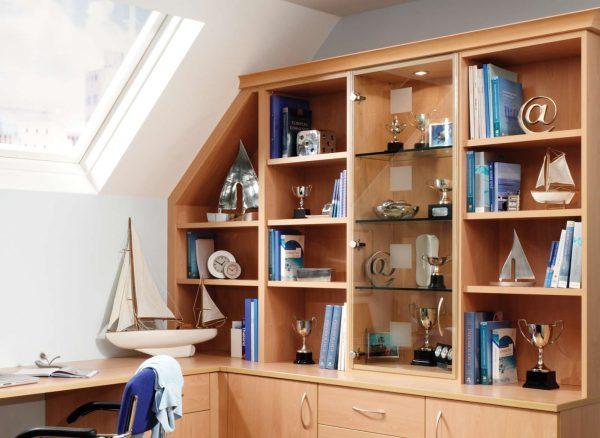 Fitted shelving and cabinets