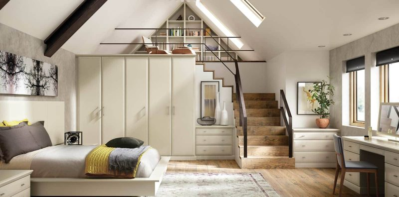 Alto bedroom in Almond Painted Finish