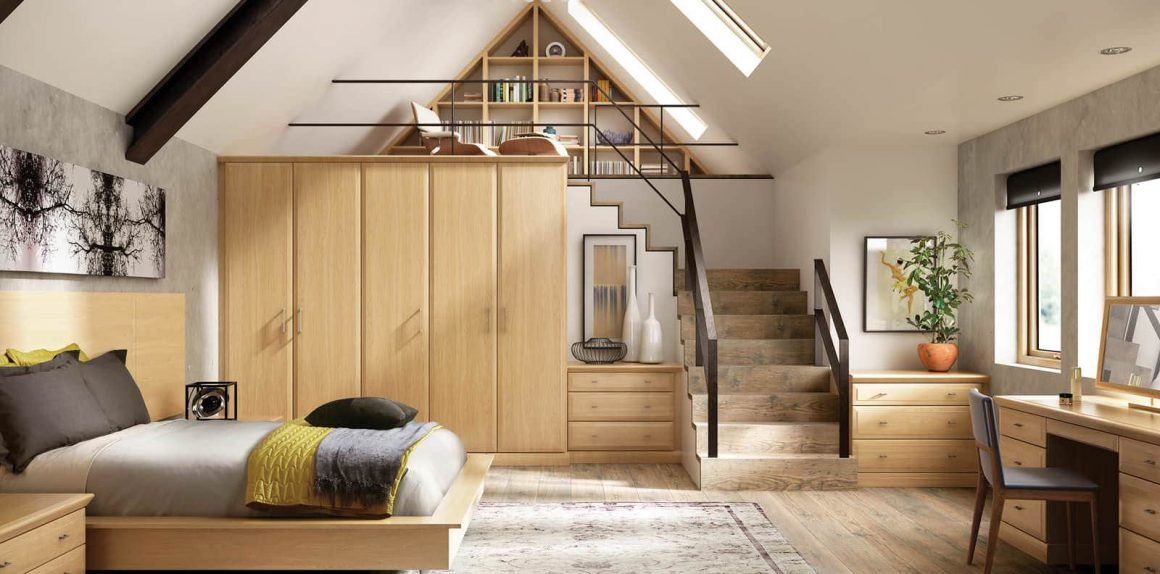Alto Fitted bedroom in English Oak