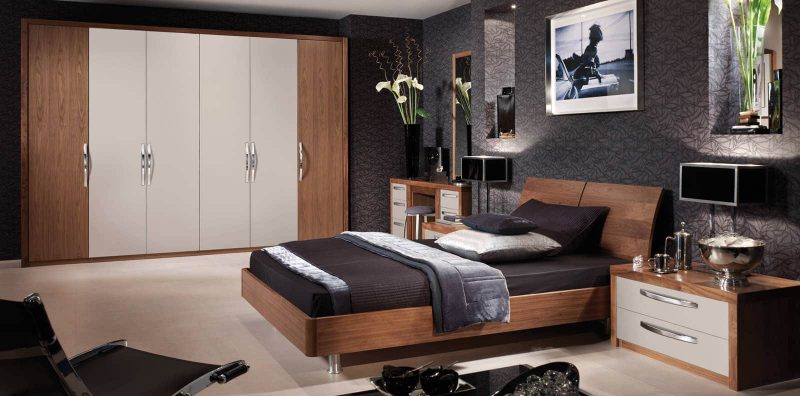 Cashmere Black Walnut Bedroom Furniture by Strachan