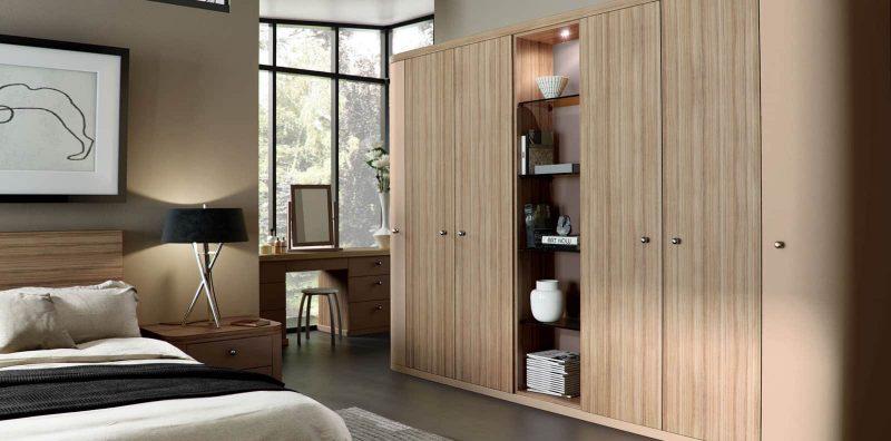 Fitted bedroom in Optima Cappucino and Granadillo
