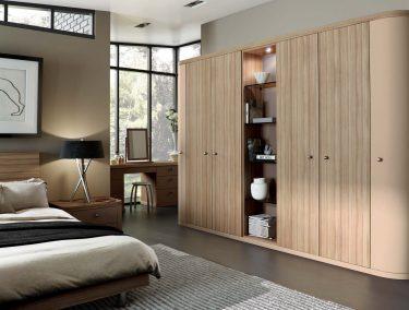 Fitted bedroom in Optima Cappucino & Granadillo