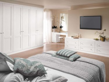 Bespoke bedroom furniture in pure white