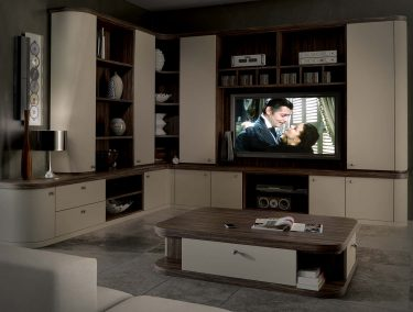 Contemporary cream painted home cinema