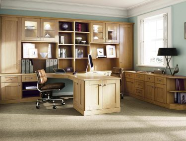 fitted home office in English Oak