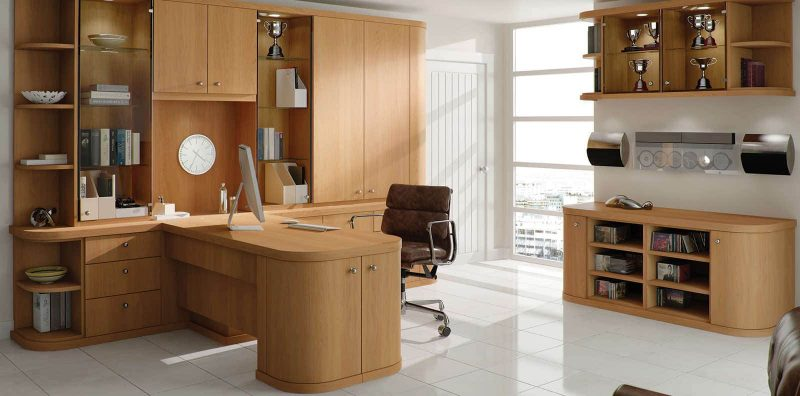 Optima natural oak contemporary home office by strachan for Study furniture ideas