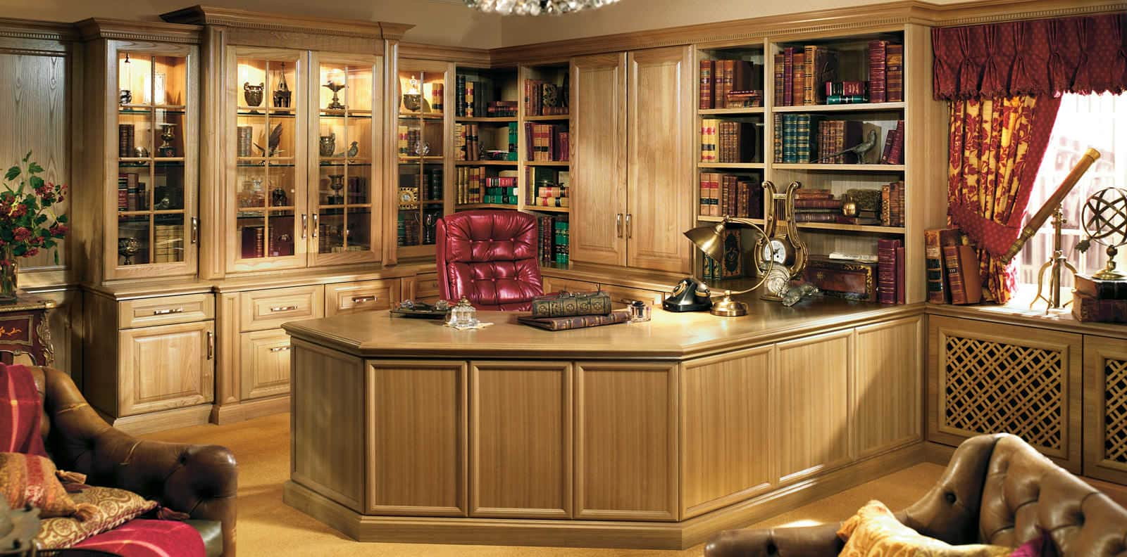 shades of oak home office in natural oak by strachan