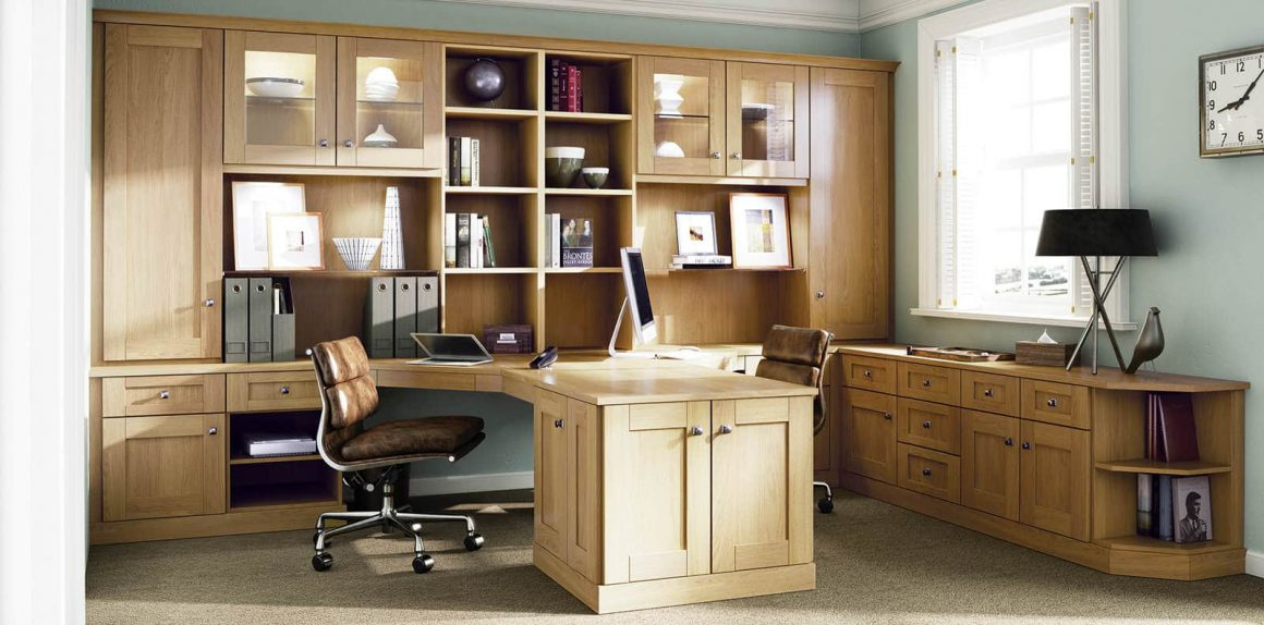 Custom Fitted English Oak Classic Home Office Strachan